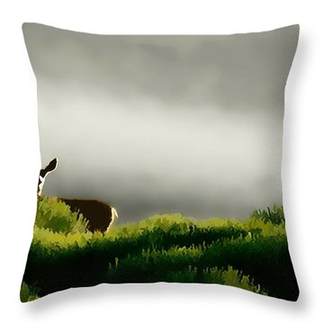 Dunes Deer P Throw Pillow