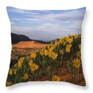 Dunes In Bloom Throw Pillow