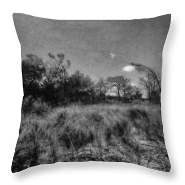 Dunes Leaving The Beach Throw Pillow by J Riley Johnson