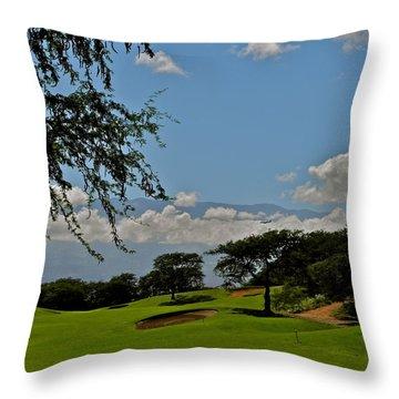 Dunes Of Maui Lani 14th Fairway Throw Pillow