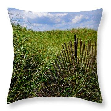 Dunes On Prince Edward Island Throw Pillow by Bonnie Fink
