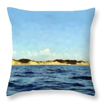 Dunes Panorama Throw Pillow by Michelle Calkins
