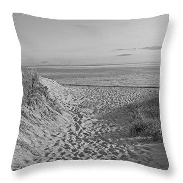 Dunes Walk Throw Pillow