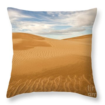 Dunescape Throw Pillow by Alice Cahill