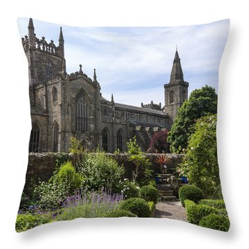 Throw Pillow featuring the photograph Dunfermline Abbey From The Abbot House by Ross G Strachan