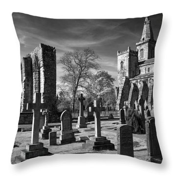 Throw Pillow featuring the photograph Dunfermline Palace And Abbey by Ross G Strachan