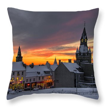 Throw Pillow featuring the photograph Dunfermline Winter Sunset by Ross G Strachan