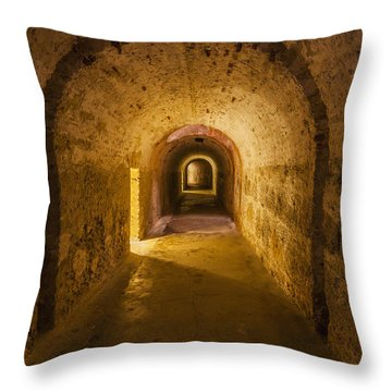 Throw Pillow featuring the photograph Dungeon At Castillo San Cristobal In Old San Juan Puerto Rico by Bryan Mullennix