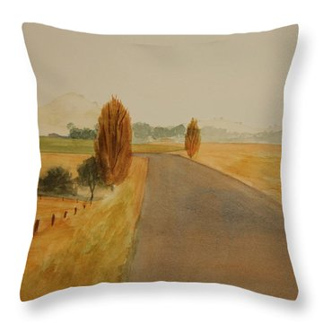 Throw Pillow featuring the painting Dungog Area Nsw Australia by Tim Mullaney
