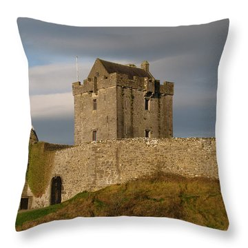 Dunguire Castle Throw Pillow by Kathleen Scanlan
