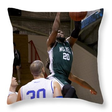 Throw Pillow featuring the photograph Dunked by Serene Maisey