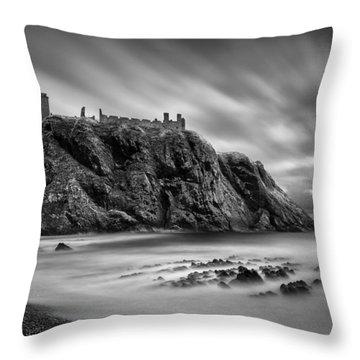 Dunnottar Castle 2 Throw Pillow by Dave Bowman