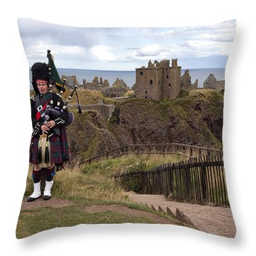 Dunnottar Piper Throw Pillow