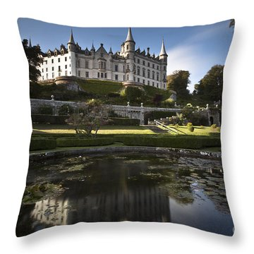 Dunrobin Castle Throw Pillow by Roddy Atkinson