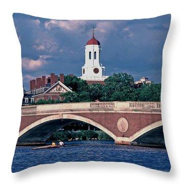 Weeks Bridge Charles River Throw Pillow by Tom Wurl