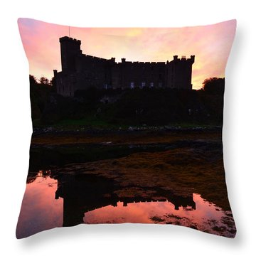 Dunvegan Castle At Dawn Throw Pillow