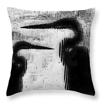 Duo Throw Pillow by Jack Zulli