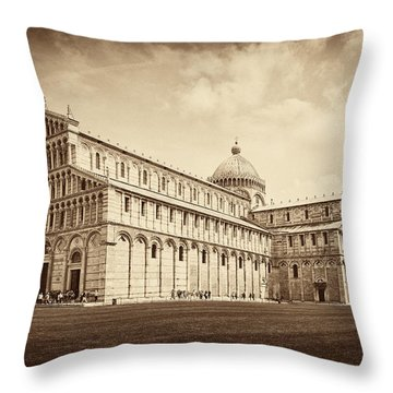 Throw Pillow featuring the photograph Duomo And Tower by Hugh Smith