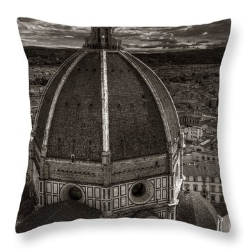 Duomo Dalla Campanile  Throw Pillow