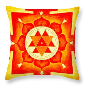 Durga Yantra Is A Powerful Yantra For Transformation Of Consciousness Throw Pillow