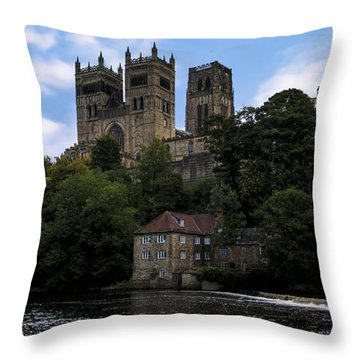 Durham Cathedral And Fulling Mill Throw Pillow by Trevor Kersley