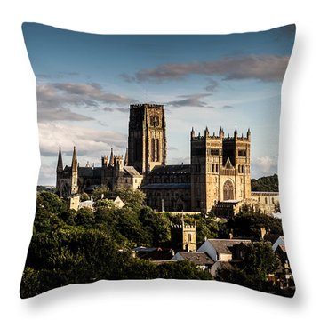 Throw Pillow featuring the photograph Durham Cathedral by Matt Malloy