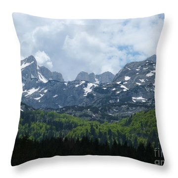 Throw Pillow featuring the photograph Durmitor National Park - Mountain Peaks by Phil Banks