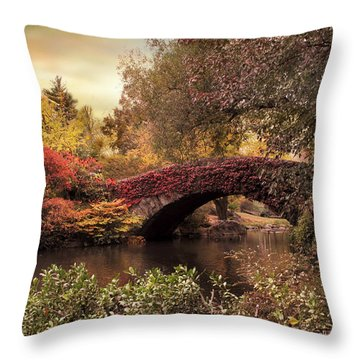 Throw Pillow featuring the photograph Dusk At Gapstow by Jessica Jenney
