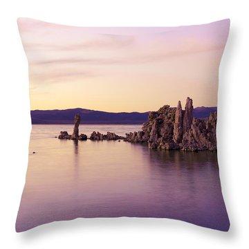 Dusk At Mono Lake Throw Pillow by Priya Ghose
