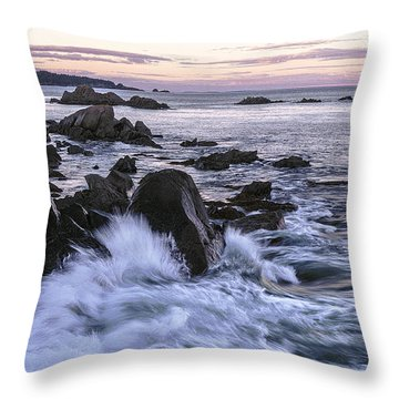 Dusk At West Quoddy Head Light Throw Pillow by Marty Saccone