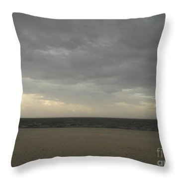 Dusk Beach Walk  Throw Pillow