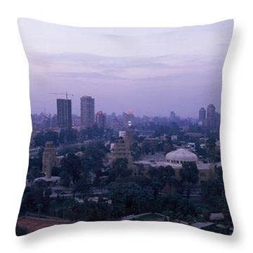 Dusk Cairo Gezira Island Egypt Throw Pillow