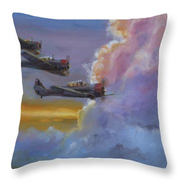 Dusk Flight Throw Pillow by Christopher Jenkins