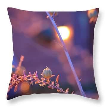 Dusk Flowers Throw Pillow