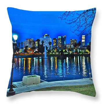 Dusk In Downtown Throw Pillow