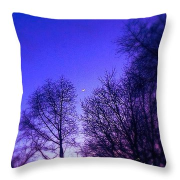 Moon At Dusk Throw Pillow by Keila Carvalho