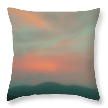 Dusk On Priest Lake Throw Pillow by David Patterson