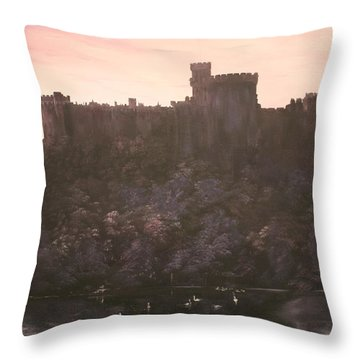 Throw Pillow featuring the painting Dusk Over Windsor Castle by Jean Walker