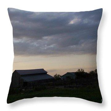 Throw Pillow featuring the photograph Dusk Til Dawn by Bobbee Rickard