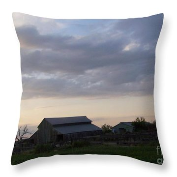 Throw Pillow featuring the photograph Dusk To Dawn by Bobbee Rickard