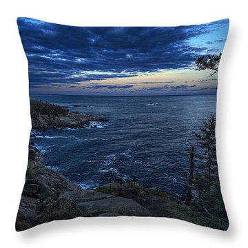 Dusk Vista At Quoddy Head State Park Throw Pillow by Marty Saccone