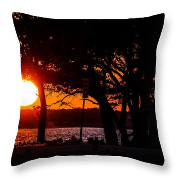 Dusky Cape Fear River  Throw Pillow