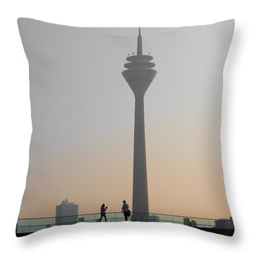 dusseldorf Rhine tower Throw Pillow