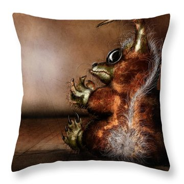 Dust Bunny Throw Pillow by Jeremy Martinson