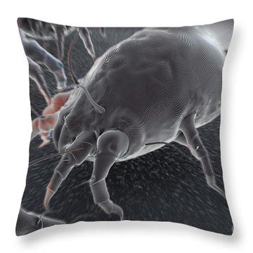 Dust Mites Throw Pillow