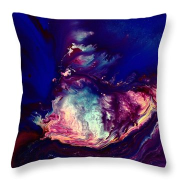 Dust Wave - Temporary Abstract Art By Kredart Throw Pillow