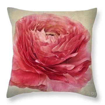 Dusty Pink Throw Pillow by Priska Wettstein