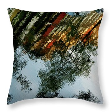 Dutch Canal Reflection Throw Pillow