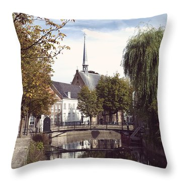 Dutch City Center Throw Pillow by Hans Engbers