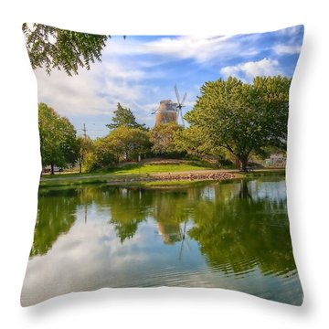 Throw Pillow featuring the photograph Dutch Mill  by Liane Wright